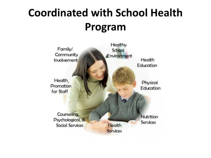 Coordinated with School Health Program