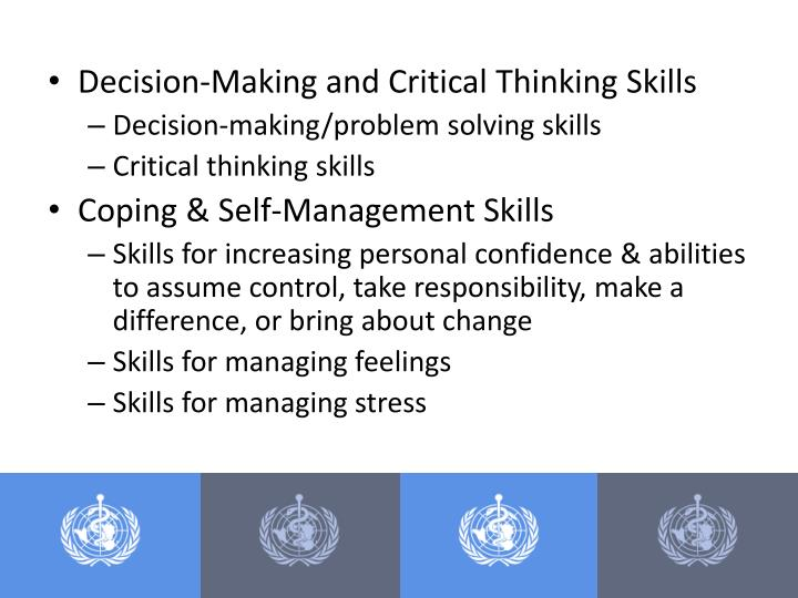 Decision-Making and Critical Thinking Skills