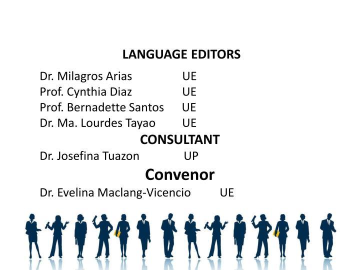 LANGUAGE EDITORS