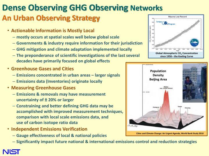 Dense Observing GHG Observing