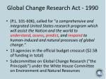 global change research act 1990