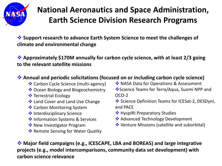 Support research to advance Earth System Science to meet the challenges of climate and environmental change