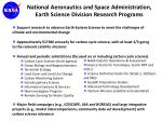 national aeronautics and space administration earth science division research programs