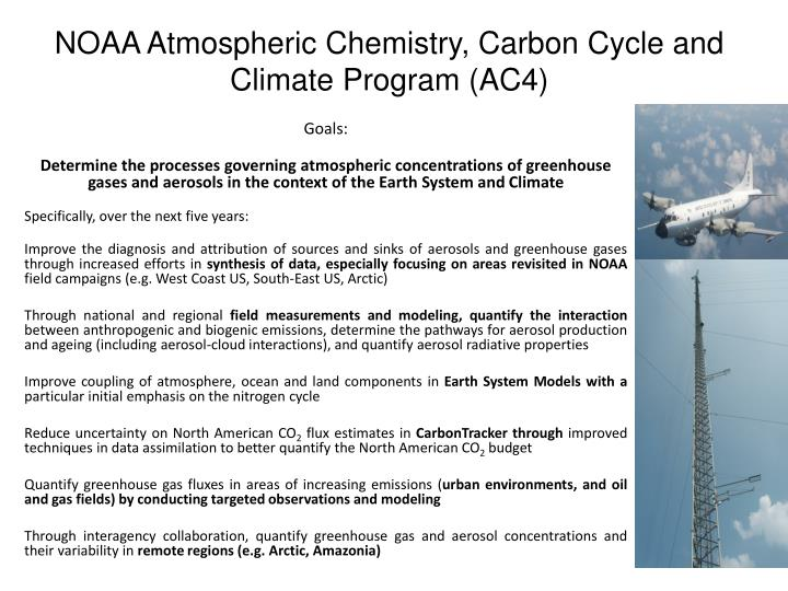 NOAA Atmospheric Chemistry, Carbon Cycle and Climate Program (AC4)