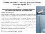noaa atmospheric chemistry carbon cycle and climate program ac4