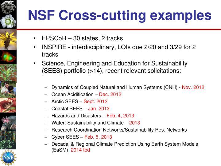 NSF Cross-cutting examples