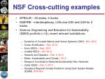 nsf cross cutting examples