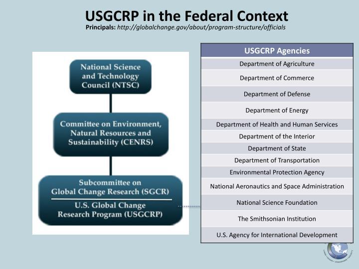 USGCRP in the Federal Context