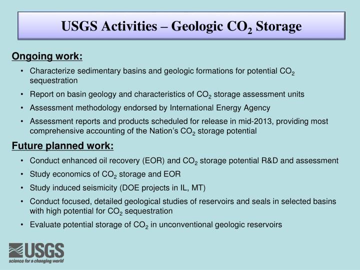 USGS Activities – Geologic CO