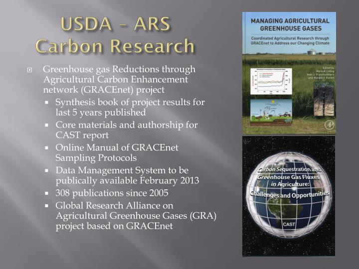 USDA – ARS Carbon Research