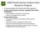 usda forest service carbon cycle research program