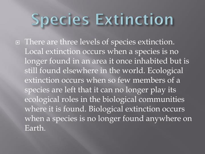 Species Extinction