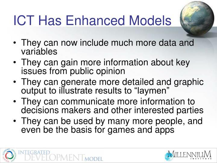 ICT Has Enhanced Models