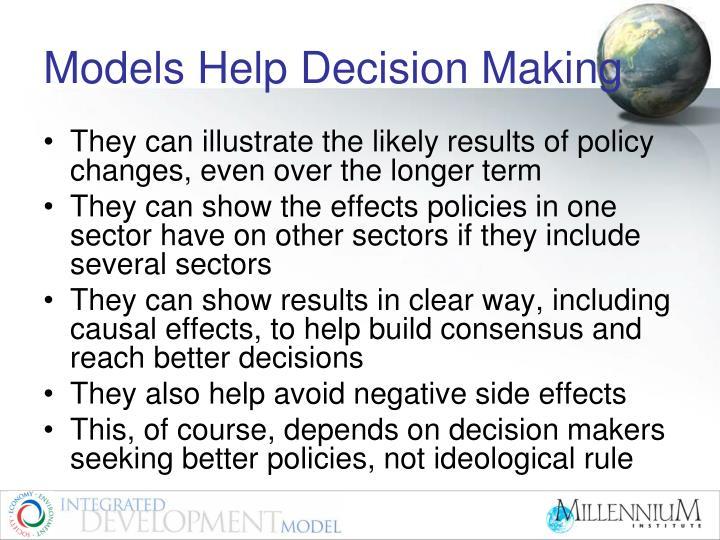 Models Help Decision Making