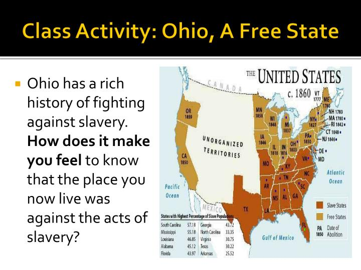 Class Activity: Ohio, A Free State