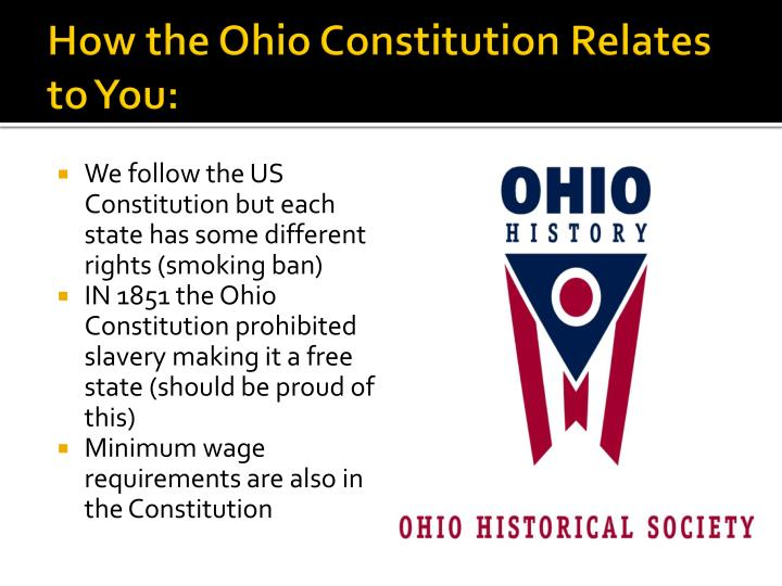 How the Ohio Constitution Relates to You: