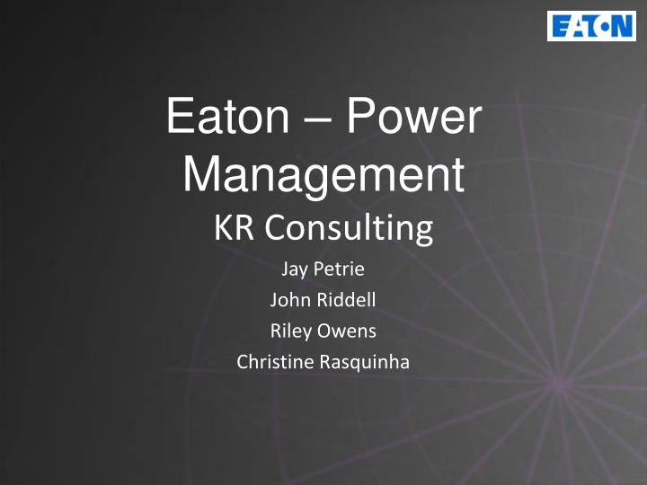 Eaton power management