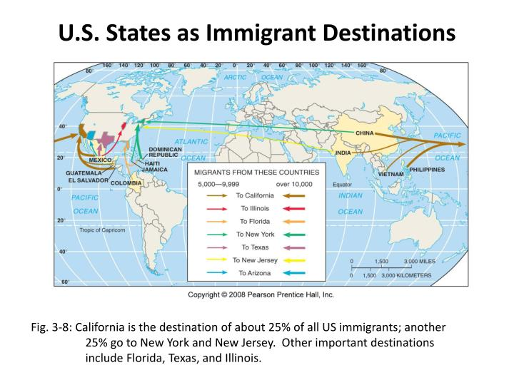 U.S. States as Immigrant Destinations