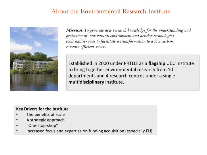 About the Environmental Research Institute