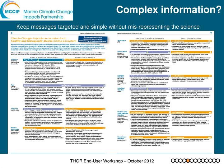 Complex information?