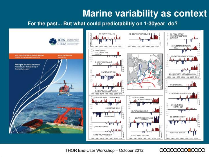 Marine variability as context