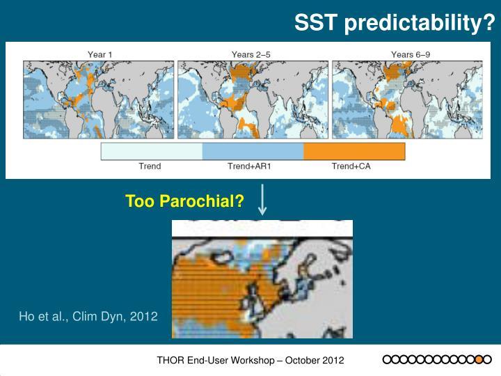 SST predictability?