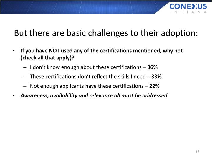 But there are basic challenges to their adoption: