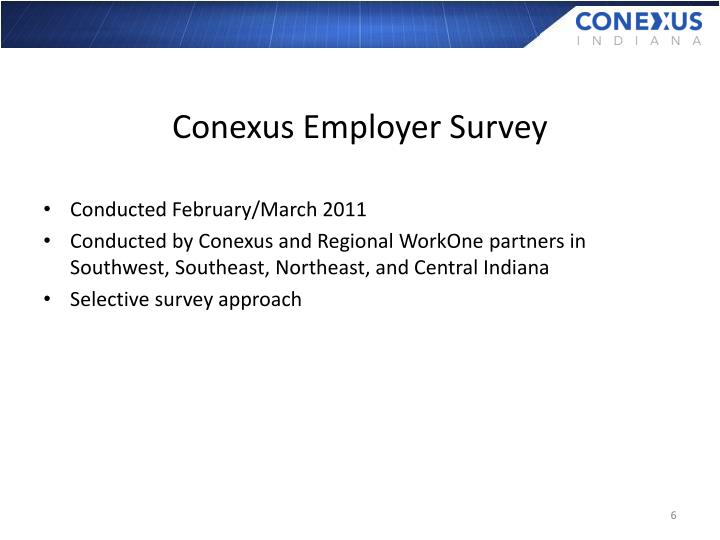 Conexus Employer Survey