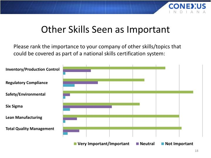 Other Skills Seen as Important