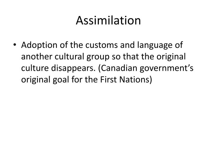 Assimilation