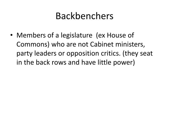 Backbenchers