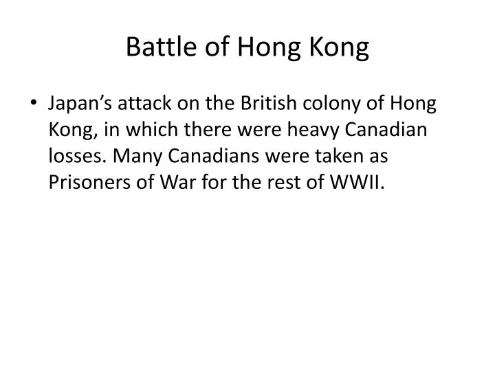 Battle of Hong Kong