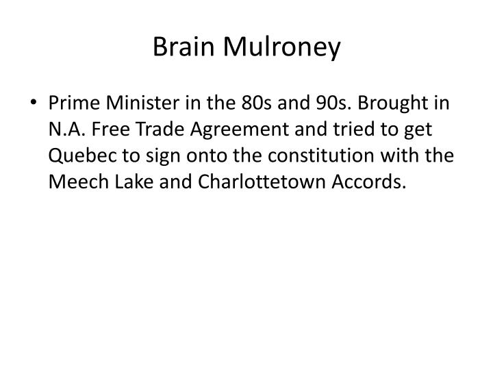 Brain Mulroney
