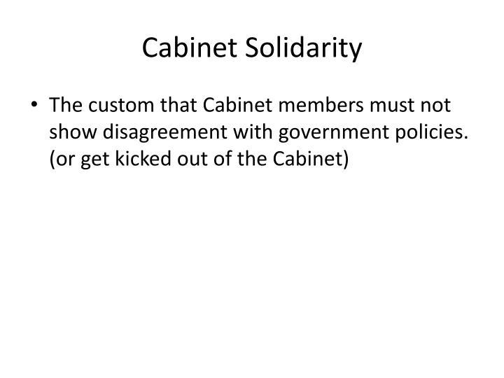 Cabinet Solidarity