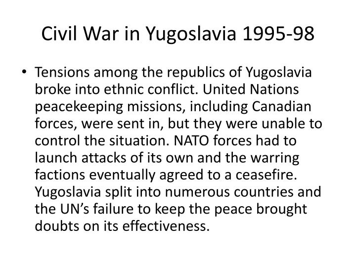 Civil War in Yugoslavia 1995-98