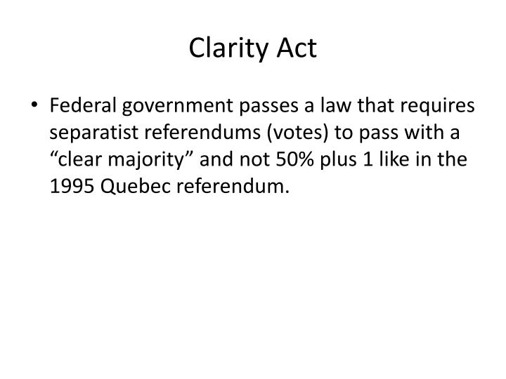 Clarity Act