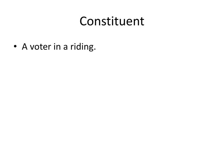 Constituent