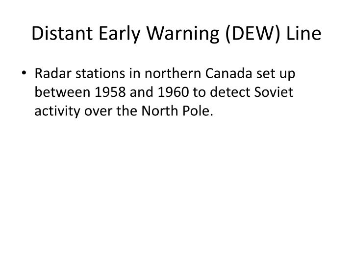 Distant Early Warning (DEW) Line