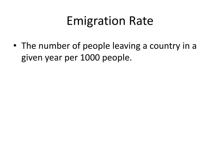 Emigration Rate