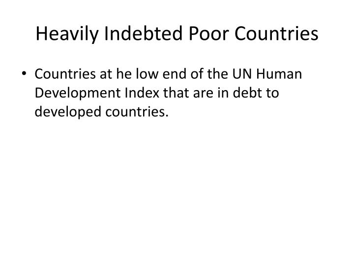 Heavily Indebted Poor Countries