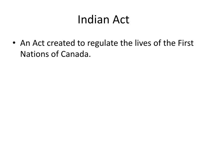 Indian Act