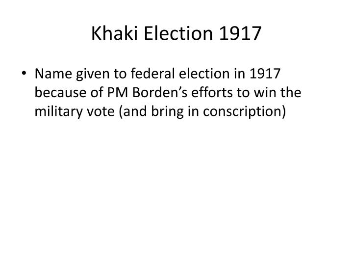 Khaki Election 1917