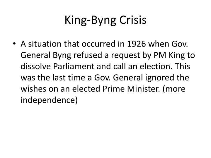 King-Byng Crisis