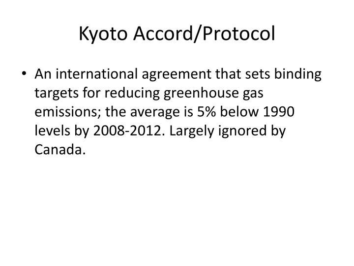 Kyoto Accord/Protocol