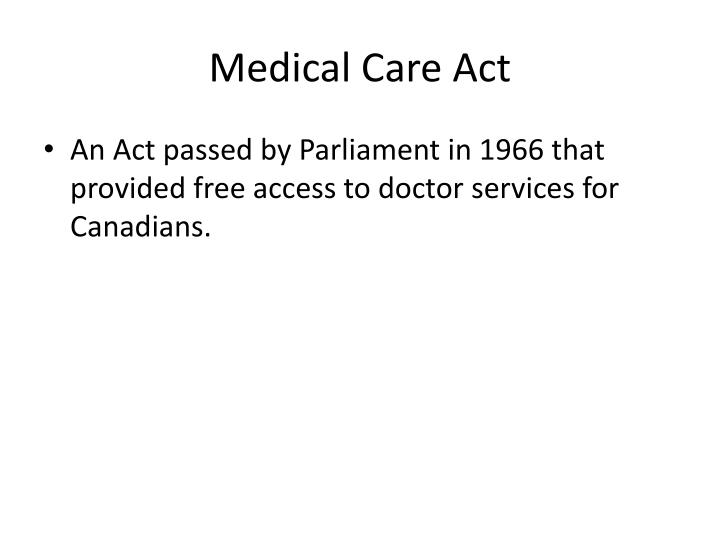 Medical Care Act