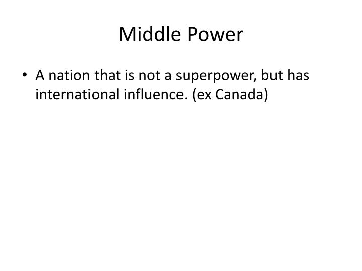 Middle Power