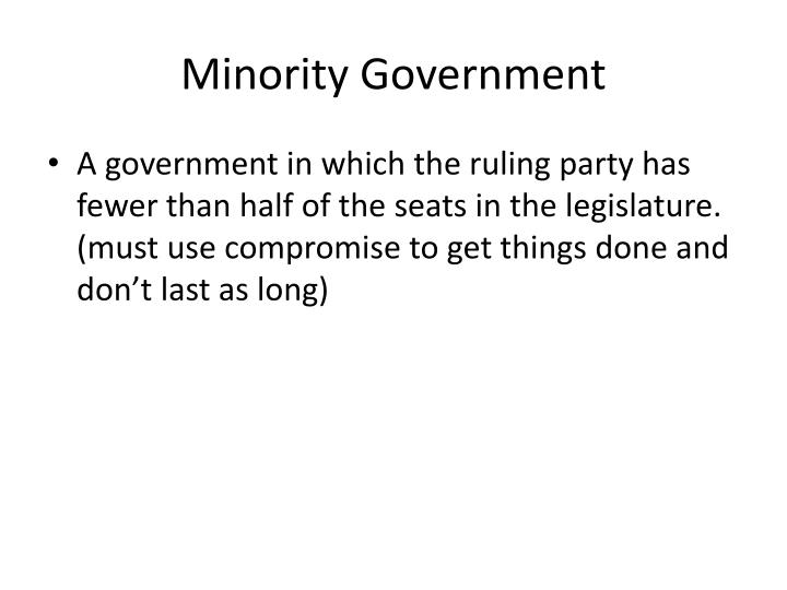 Minority Government