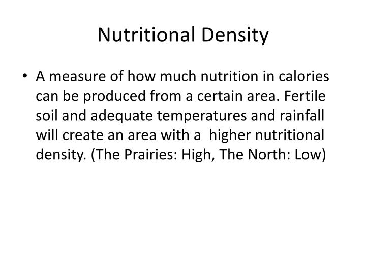 Nutritional Density