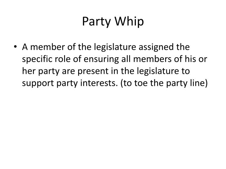Party Whip
