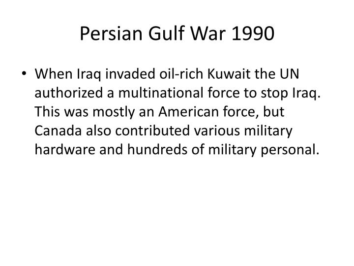 Persian Gulf War 1990
